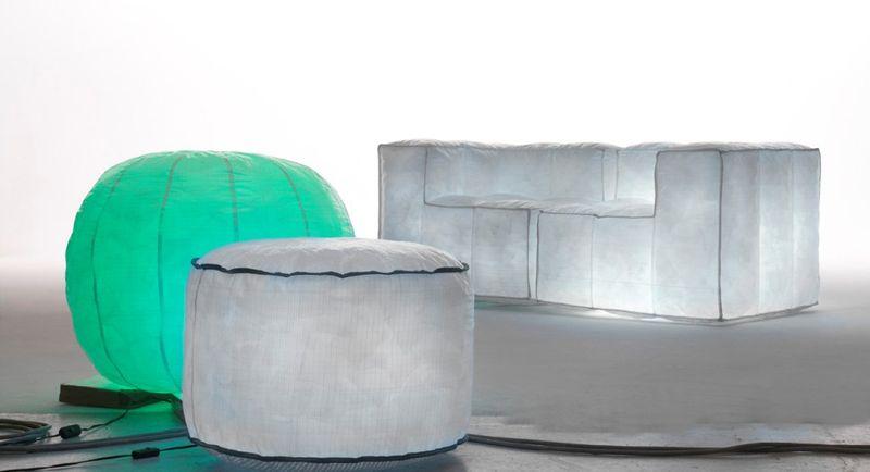 mario bellini fauteuils et canap s gonflables et lumineux. Black Bedroom Furniture Sets. Home Design Ideas