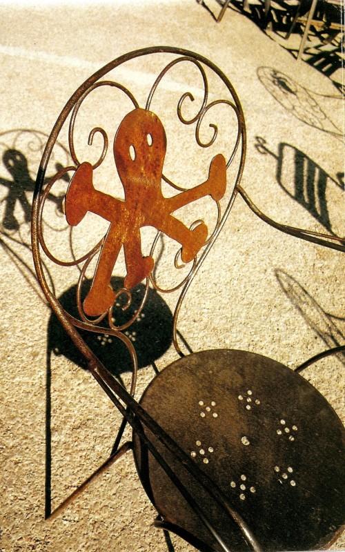 chaise pieuvre pour le restau gambrinus