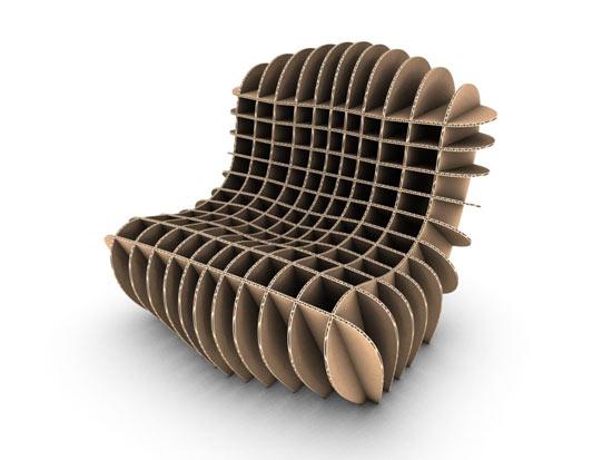 Chaise chaise pour enfant et tabouret en carton de david grass lavieenrouge - Muebles en carton ...