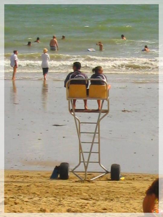 chaise de la baignade surveillée