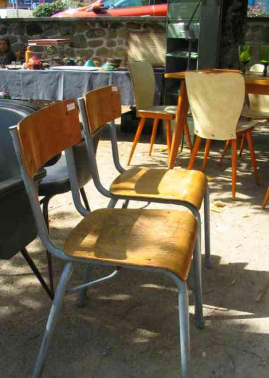 Chaises d'écolier