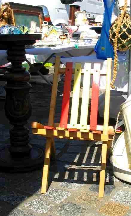 chaise en bois pliante pour enfant