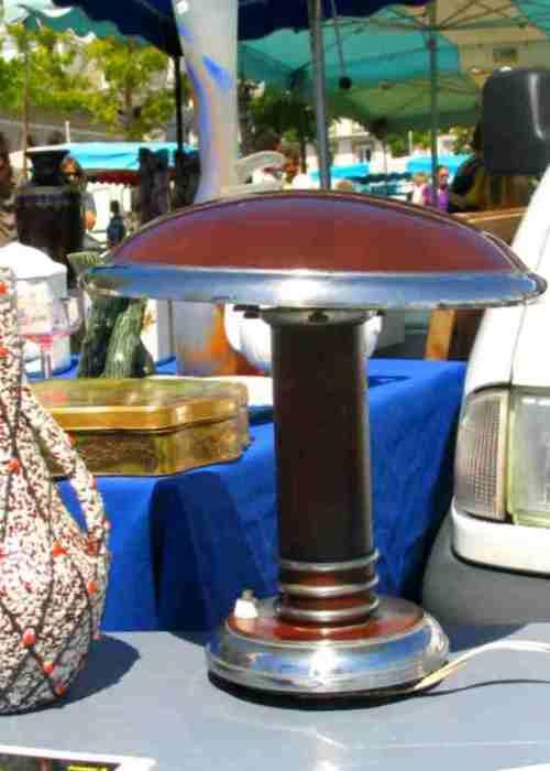 lampe en acier