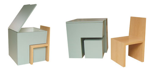 Box chair Storage